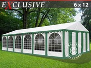 Marquee Plus 6x12 m PVC green/white