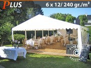 Marquee 6x12 m PE