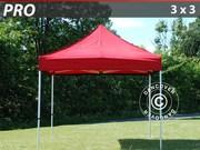 Folding canopy FleXtents Pro 3x3 m,  red