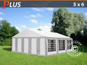 Marquee PLUS 5x6 m PE,  grey/white