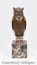 Shop Bronze Art Deco Owl Statue Online