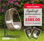 Sale !! Spring Bank Holiday Furniture Sale | Royalcraft Hanging Pod