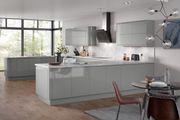 Larissa Dust Grey Gloss Handleless Kitchen Doors | Colour Swatch